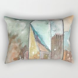 The Fountain Place Rectangular Pillow