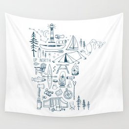 Minnesota Up North Collage Wall Tapestry