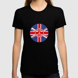 Brit Flag Peace Sign Roundel T-shirt