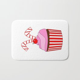 Cupcakes And Candy Canes Bath Mat