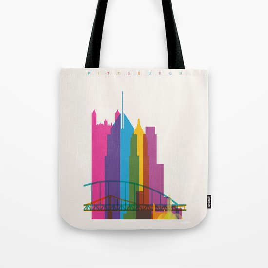 Shapes of Pittsburgh. Accurate to scale Tote Bag