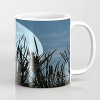 bebop Mugs featuring Between the Moon and Marsh by DebS Digs Photo Art