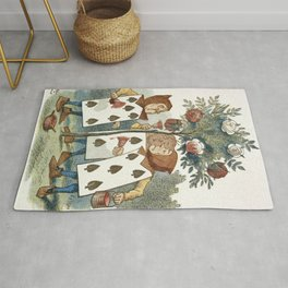 Alice in Wonderland - Painting the roses Rug