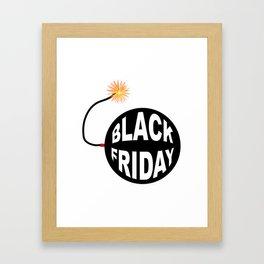 Black Friday Bomb And Lit Fuse Framed Art Print