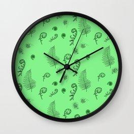 Fiddleheads and Ferns Wall Clock