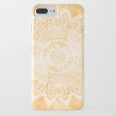 TANGERINE BOHO FLOWER MANDALA Slim Case iPhone 7 Plus