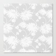 White Floral Poms Canvas Print