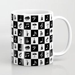 Contemporary Music themed checks Coffee Mug