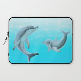 Dolphins Swimming in the Ocean Laptop Sleeve