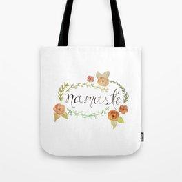 Namaste Floral Watercolor Tote Bag