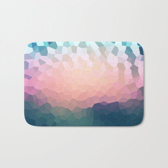 Abstract blue - pink background .  Bath Mat
