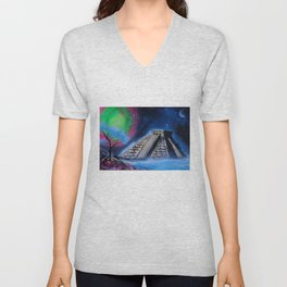 Mayan World By The Sea Unisex V-Neck