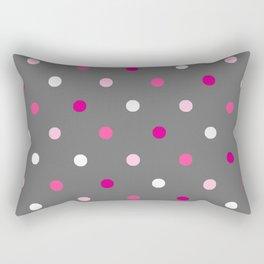 Dotted Gray Rectangular Pillow