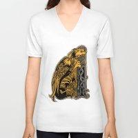 celtic V-neck T-shirts featuring celtic by Julia Menshikova