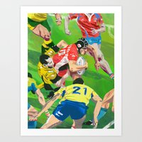 rugby Art Prints featuring Rugby by Ciaran Murphy