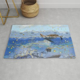 On Earth as It Is in Heaven? - Surreal Climate Change Art Rug