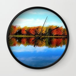 Lakeside, Autumn Wall Clock