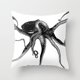 Cosmic Octopus Throw Pillow