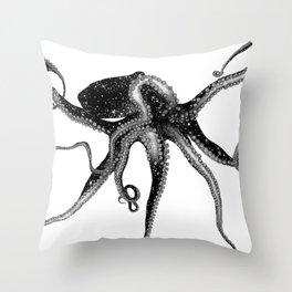 Cosmic Octopus Throw Pillow