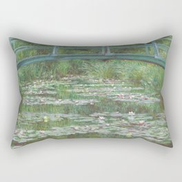 Claude Monet The Japanese Footbridge 1899 Painting Rectangular Pillow