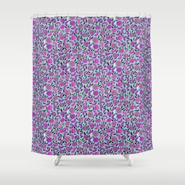 Plum pie with striped stones  Shower Curtain