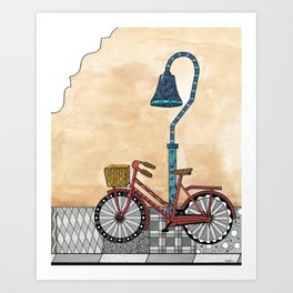 Bicycle on the El Camino Real Art Print
