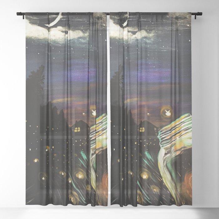 Firefly Sky Sheer Curtain
