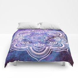 Galaxy Mandala Purple Lavender Blue Comforters