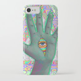 Psychedelic Hand iPhone Case