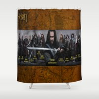 thorin Shower Curtains featuring the dwarves,hobbit,lord of the rings,thorin,#thehobbit, #lordoftherings by ira gora