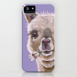 Alpaca Art, Cute Alpaca art iPhone Case