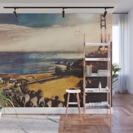 Italian American Masterpiece 'Early Morning' New York by Alfred de Giorgio Crimi Wall Mural