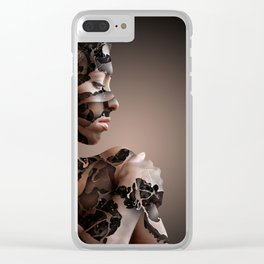 feminity abstract Clear iPhone Case