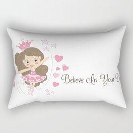 BellaRina - Believe In Your Dreams Rectangular Pillow