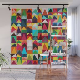 Abstract Geometric Mountains Wall Mural