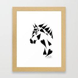 Heart Horse Framed Art Print