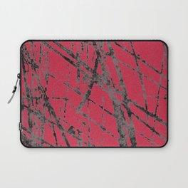 red black scratchy grunge Laptop Sleeve