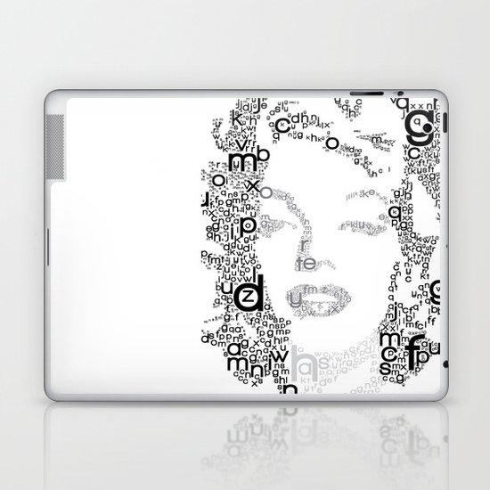 Black Letters Laptop & iPad Skin