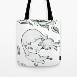 Rose in the wind Tote Bag