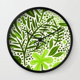 Garden – Lime Green Palette Wall Clock