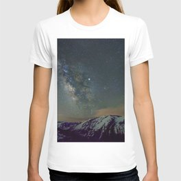 Watercolor Nightscape Milky Way Ute Trail, Rocky Mountain National Park, CO T-shirt