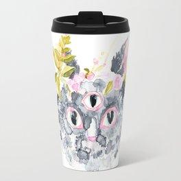 Third Eye Cat Travel Mug