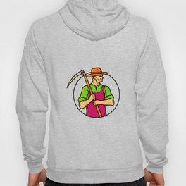 Organic Farmer Scythe Mono Line Art Hoody