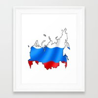 russia Framed Art Prints featuring russia by youssefyouchaa