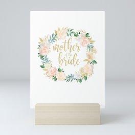 Womens Mother of the Bride Blush Floral Wreath Wedding Shi Mini Art Print