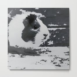 Urban Pop Art Guinea Pig Metal Print
