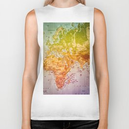 Colorful World Biker Tank