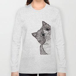 Astonishment Cat Long Sleeve T-shirt
