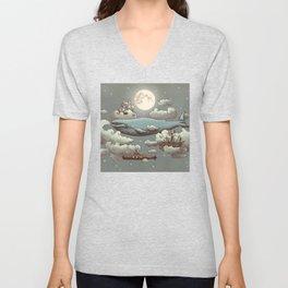 Ocean Meets Sky Unisex V-Neck