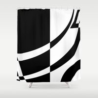 tim burton Shower Curtains featuring Burton by Pixiepot Designs
